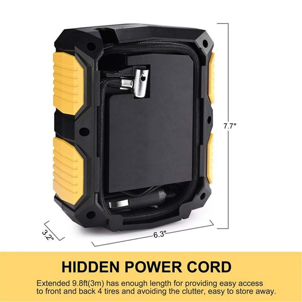 Balscw Inflador de neumático Digital DC 12 voltios de la Bomba de compresor de Aire portátil del Coche 150 PSI Compresor de Aire de automóvil para Motos de ...