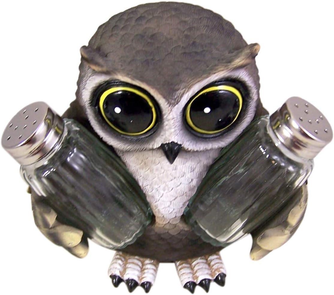 Ebros Gift Whimsical Owlet Baby Owl Glass Salt And Pepper Shaker Set