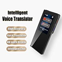 Smart Voice Translator Device with WiFi or 4G 2.4Inch IPS Capacitive Touch Screen Support 70 Difference Foreign Languages Translated (Black)
