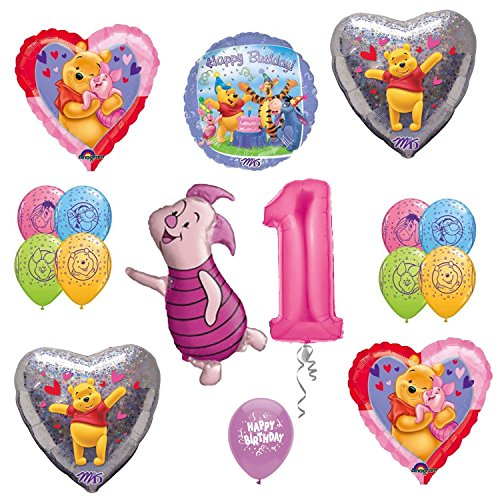 Winnie the Pooh 1st Birthday Party Supplies Balloon Decoration Kit