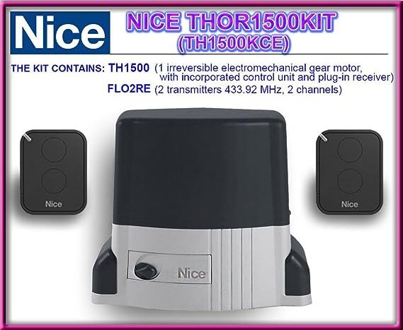 Motor Nice thor 1500 corredera kit: Amazon.es: Electrónica