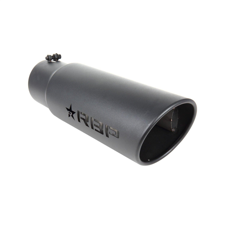 RBP RBP-56005-7 RX-7 High Heat Textured Black Powder Coated Exhaust Tip