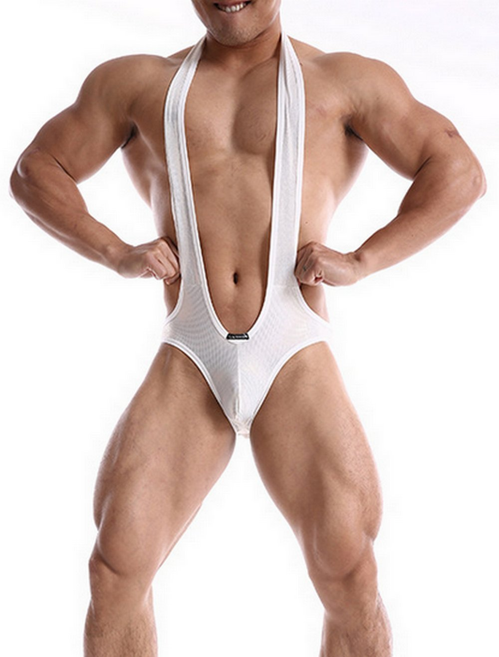 TAIPOVE Men Open Butt Sexy Lingerie Underwear Stretch Briefs Erotic Bodysuits Wrestling Singlets Bulge Panty
