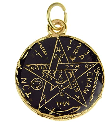 Amazon.com: Bling Cartel Black Color Pentagram Pendant ...