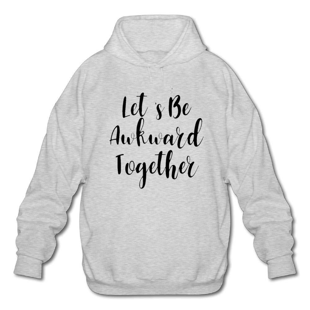 Haoshouru Mens Long Sleeve Cotton Hoodie Lets Be Awkward Together Sweatshirt