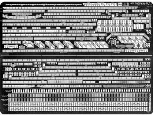 ピットロード 1/400 英国 豪華客船 クイーンメリー2用 GM4009
