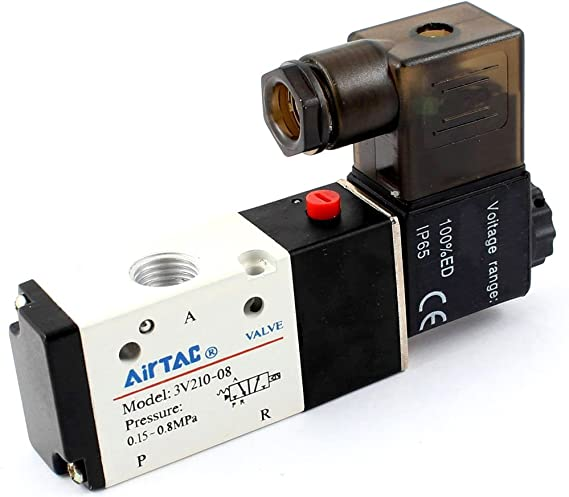 Woljay Pneumatic Double Solenoid Valve PT 1//4 Air Valve 4V320-08 DC 12V 5 Way 2 Position