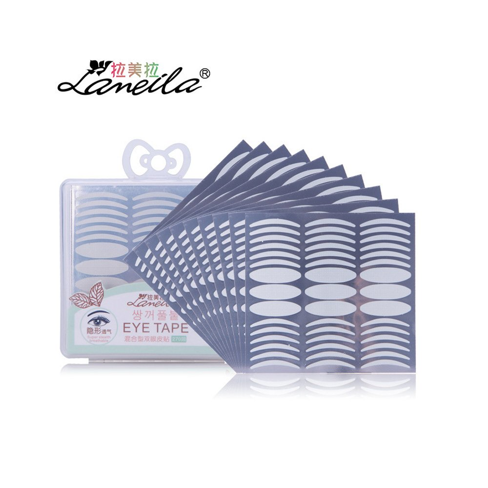 Double Eyelid Tape Stickers Anself Slender Form and Widen-shape Mixed Sending Eyelid Tape Sticker Invisible Self-adhesive Double Eye Tape Tools with Eye Stickers Tool 270 Pairs W6388-SJKNSE