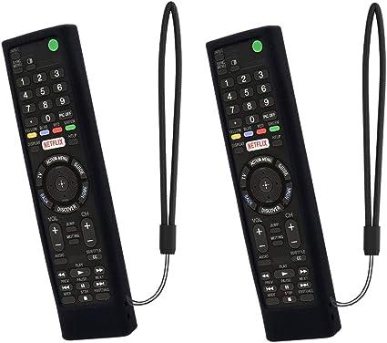 SIKAI 2-Pack Funda Protectora Antideslizante Compatible con Mando a Distancia Sony Smart TV RMT-TX102D / RMT-TX100D / RMT-TX300E / RMF-TX200C 210 211 a Prueba de Golpes Carcasa de Silicona (Nero): Amazon.es: Electrónica