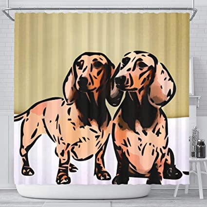 Image Unavailable Not Available For Color Simply Cool Trends Amazing Dachshund Dog Print Shower Curtain