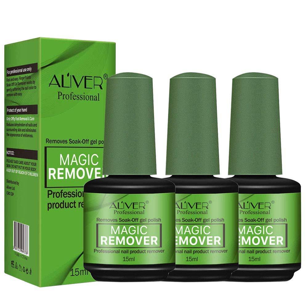 Nail Polish Remover 3Pcs, Magic Soak-Off Gel Nail Polish Remover-Quick, Professional Nail Polish Remover for Natural, Gel Nails : Beauty