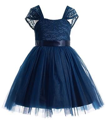 a48109f57 Amazon.com  princhar Lace Tulle Flower Girl Dress Kids Toddler Dress ...