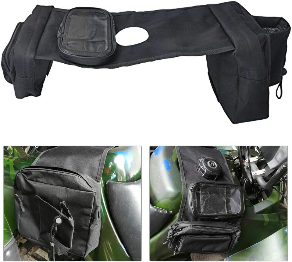 HOTEU ATV Praktische Schwarze Tankrucksack Satteltasche Motorrad Tankrucksack Satteltasche Mit Getr/äNkehalter Seitentasche Tankrucksack