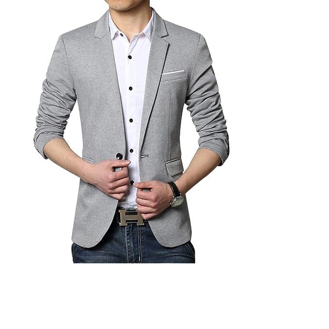 Formal Outfits - Chaqueta de Traje - para Hombre Gris Gris XXL: Amazon.es: Ropa y accesorios