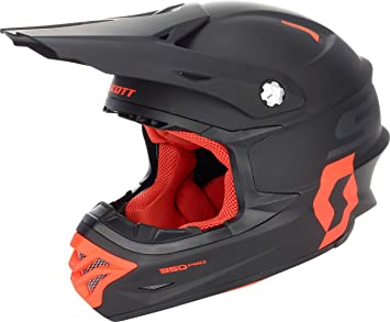 Scott 350 Pro MX Enduro Moto/Bike Casco Negro/Naranja 2018