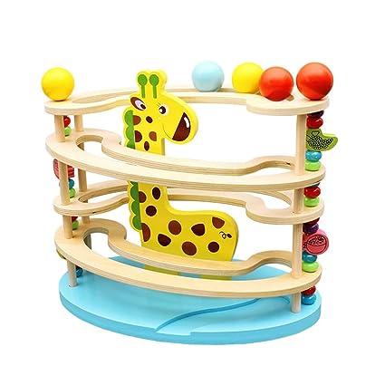 Toyvian Juego de madera Juego de juguete para la primera hora de la montaña rusa de