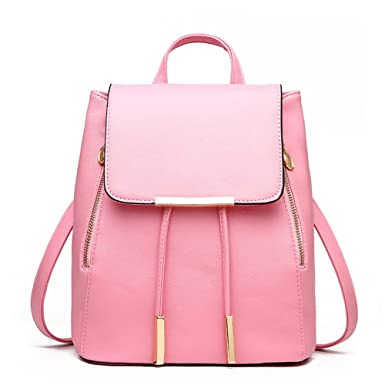 28e604284f2d Amazon.com | Skyflying Candy Color Soft PU Leather Backpack Cute ...