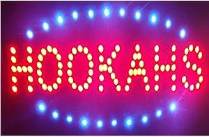 CHENXI Led Neon Hookahs Open Store Signs Vape E-liquid Sign Board Indoor (48 X 25 CM, HOOKAHS)
