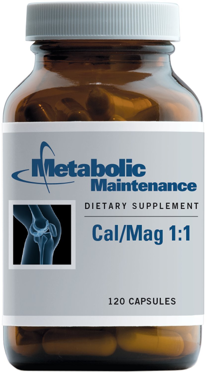 Metabolic Maintenance - Cal/Mag 1:1 - Bioavailable Bone + Heart Support, 120 Capsules