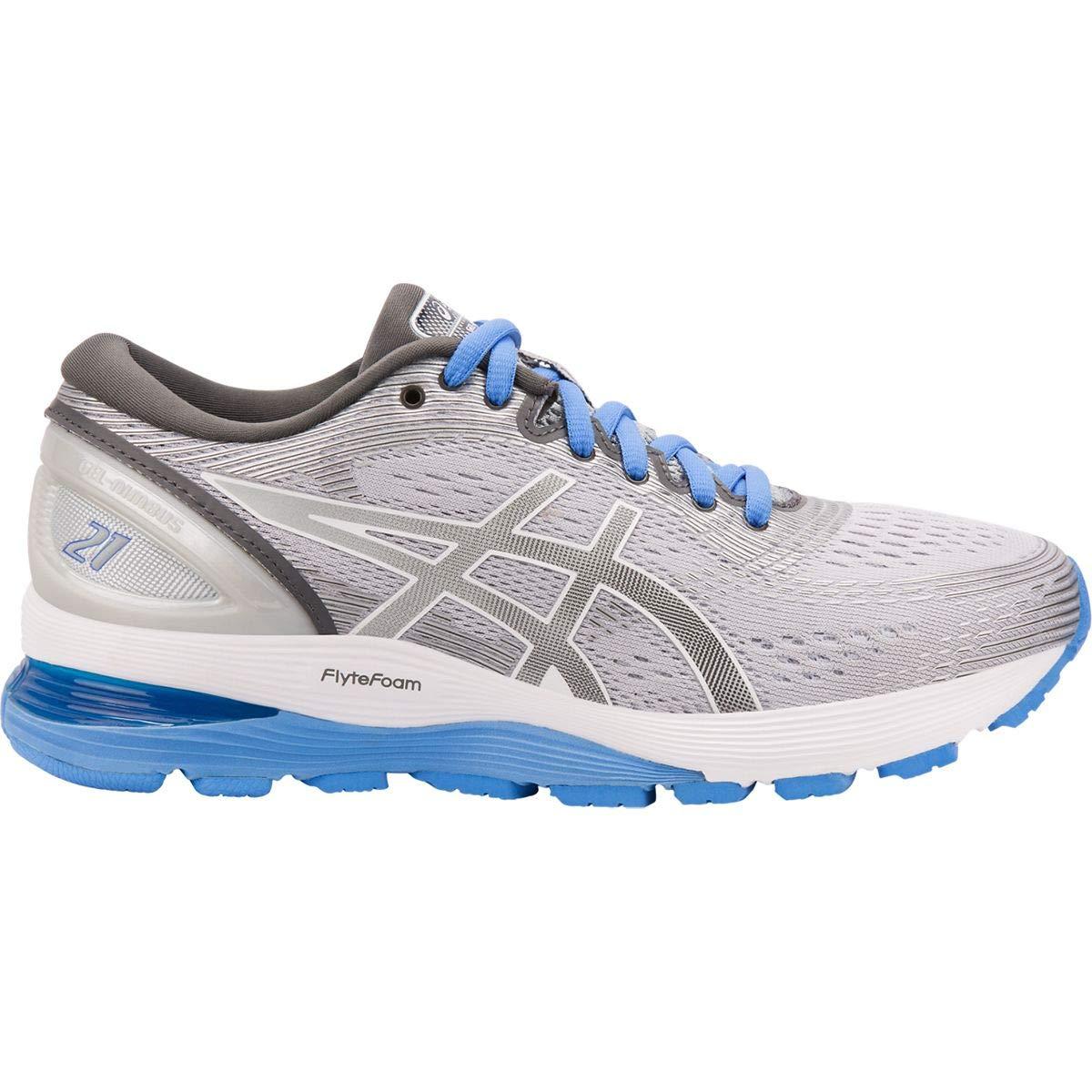 Mid Grey Dark Grey ASICS Women's Gel Nimbus 21 Running shoes