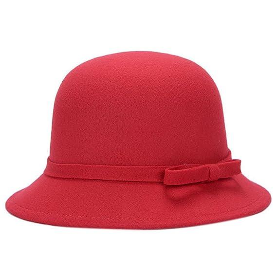 Leisial™ Sombrero del Elegante con Arco Algodón Más Caliente Casual Gorro  Retro Invierno Otoño para 8a3de0b6ad9