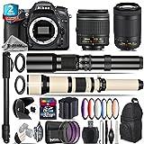 Holiday Saving Bundle for D7100 DSLR Camera + AF-P 70-300mm VR Lens + 650-1300mm Telephoto Lens + AF-P 18-55mm + 500mm Telephoto Lens + 6PC Graduated Color Filter Set - International Version