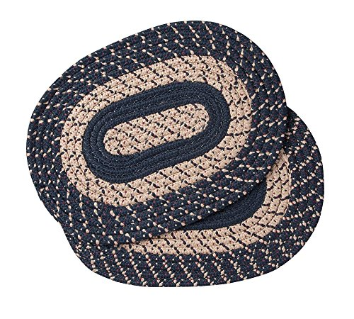 Miles Kimball Navy Blue Braided Placemats Set of 2