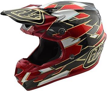 2018 Troy Lee Designs SE4 Carbon Maze Helmet-Black//Red-XS 102492241