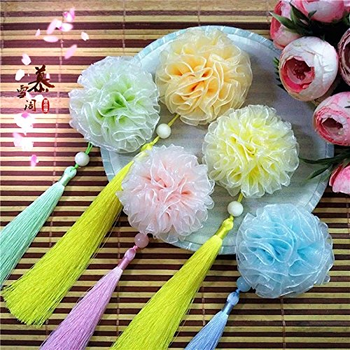 Yarn Rouge - Rouge Snow) original hand-Chinese antiquity gradient silk yarn tassels hairpin Chinese clothing hair jewelry for women girl lady