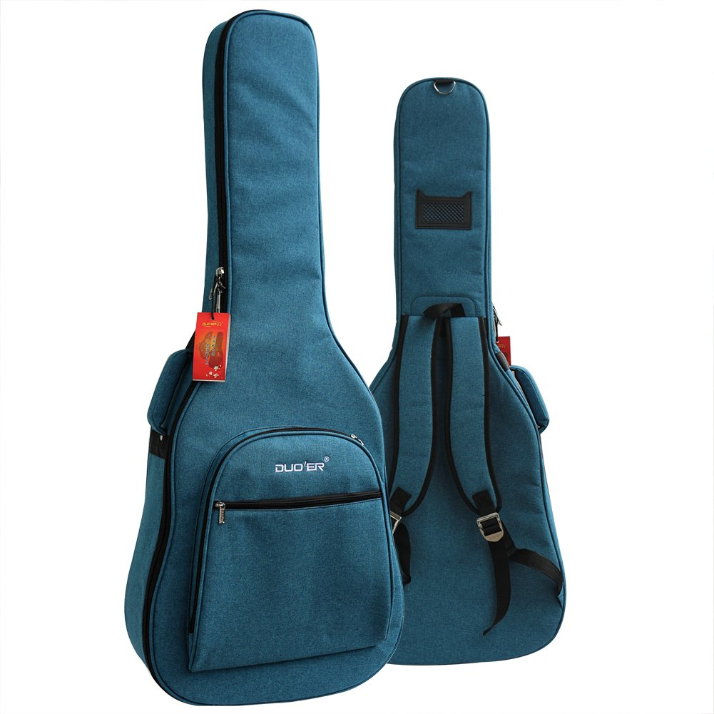 41-42 Inch Wooden/Electric Guitar Acoustic Guitar Padded Gig Bag with Guitar Stra Dual Adjustable Waterproof Shoulder Strap Acoustic Guitar Gig Bag (Blue) by cjc