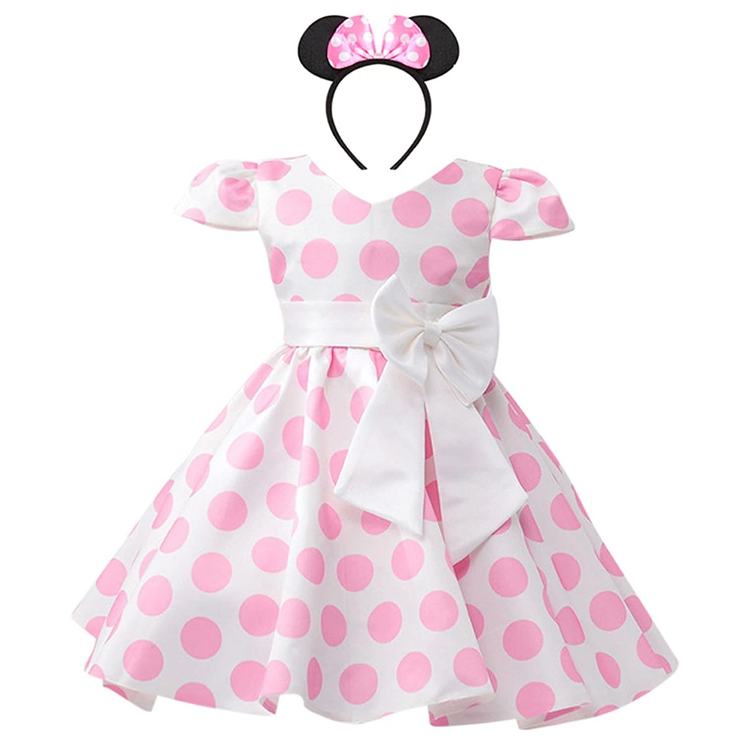 OBEEII Baby Girls Polka Dots Princess Dress Newborn Infant Cute Tutu