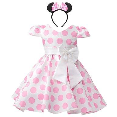 5308ee719c9b Vintage Baby Girls Polka Dots Leotard Birthday Princess Bowknot Tutu ...