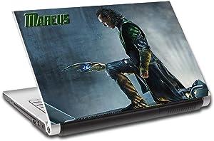 Loki Thor Villain Personalized LAPTOP Skin Decal Vinyl Sticker NAME Marvel L703, 14'