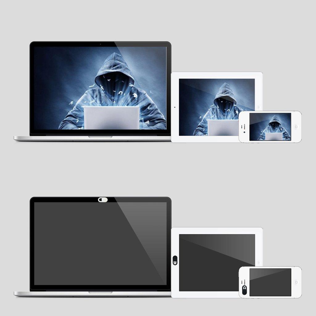 Computadoras Port/átiles Tablet PC Blanco Tel/éfonos Inteligentes IPOTCH 3 x Cubierta de C/ámara Web ABS Pl/ástico Netx C/ámara Pegatina Diapositiva para Computadora Alta Calidad y Durabilidad