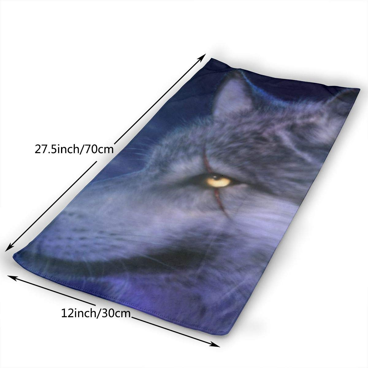 18 magic ship Cool Wolf Hand Towels Beach Towel Instant Cool Ice Towel Gym Quick Dry Towel Microfibre Towel Cooling Sports Towel 12 X 27.5 Inch
