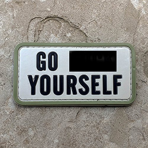 NEO Tactical Gear Go FCK Yourself PVC Morale Patch, Hook Backed Morale Patch