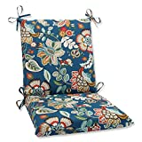 Pillow Perfect Outdoor Telfair Squared Corners Chair Cushion, Peacock