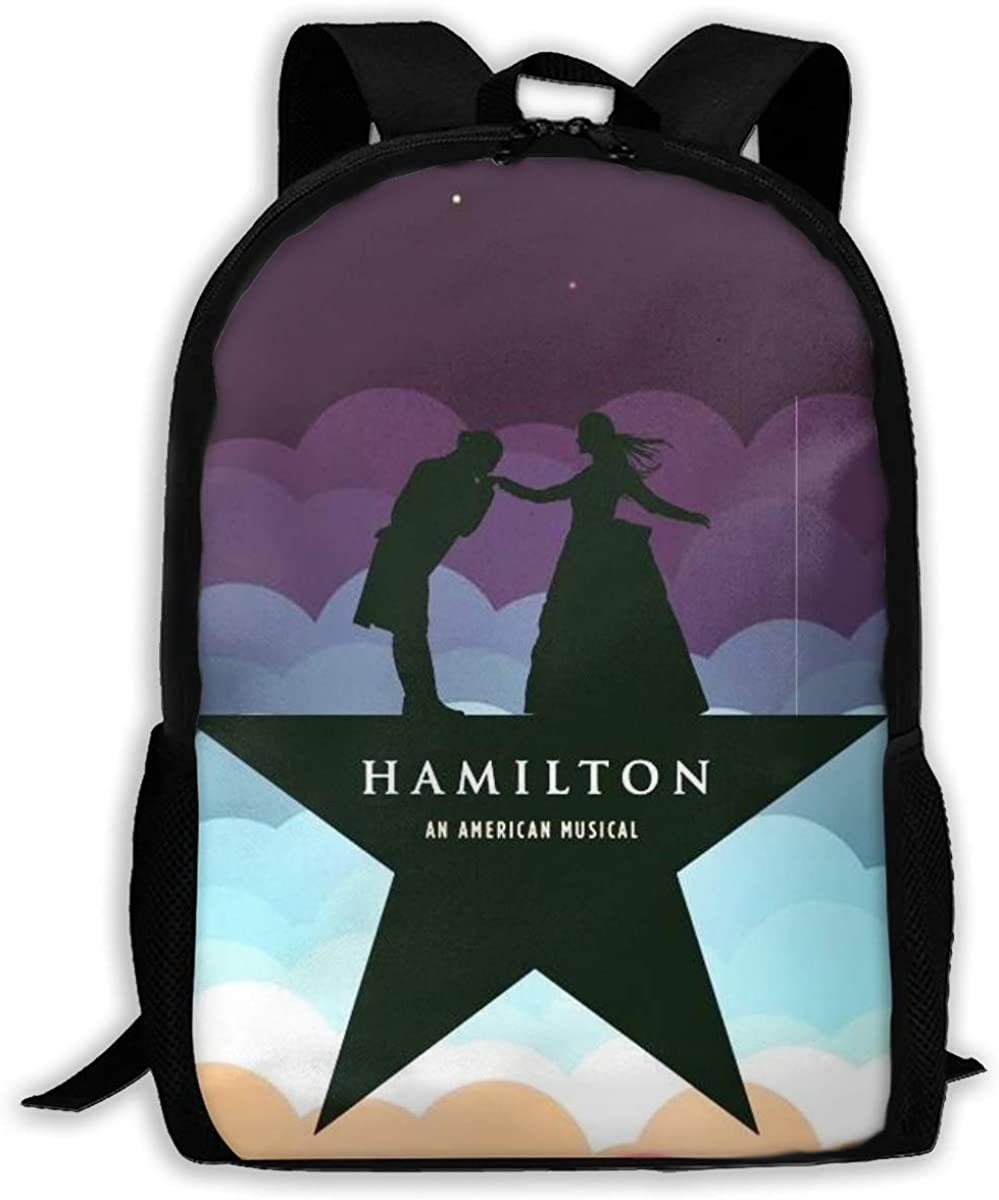 Hamilton 3D Stylish And Nice Print Pattern Genuine Leather Backpack Purse For Women Travel Large College Shoulder Bag