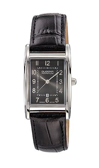 Dugena 7000125 - Reloj analógico de cuarzo para mujer con correa de piel, color negro: Amazon.es: Relojes