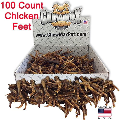 ChewMax Roasted Chicken Feet 100 Count of 100% Natural Roasted Chicken Feet Made in the USA ()