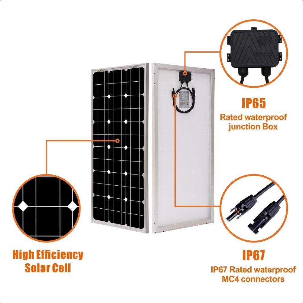 Richsolar 100 Watt 12 Volt Monocrystalline Solar Panel with MC4 Connectors 12 Volt Battery Charging RV, Boat, Off Grid (100W) by Richsolar (Image #3)
