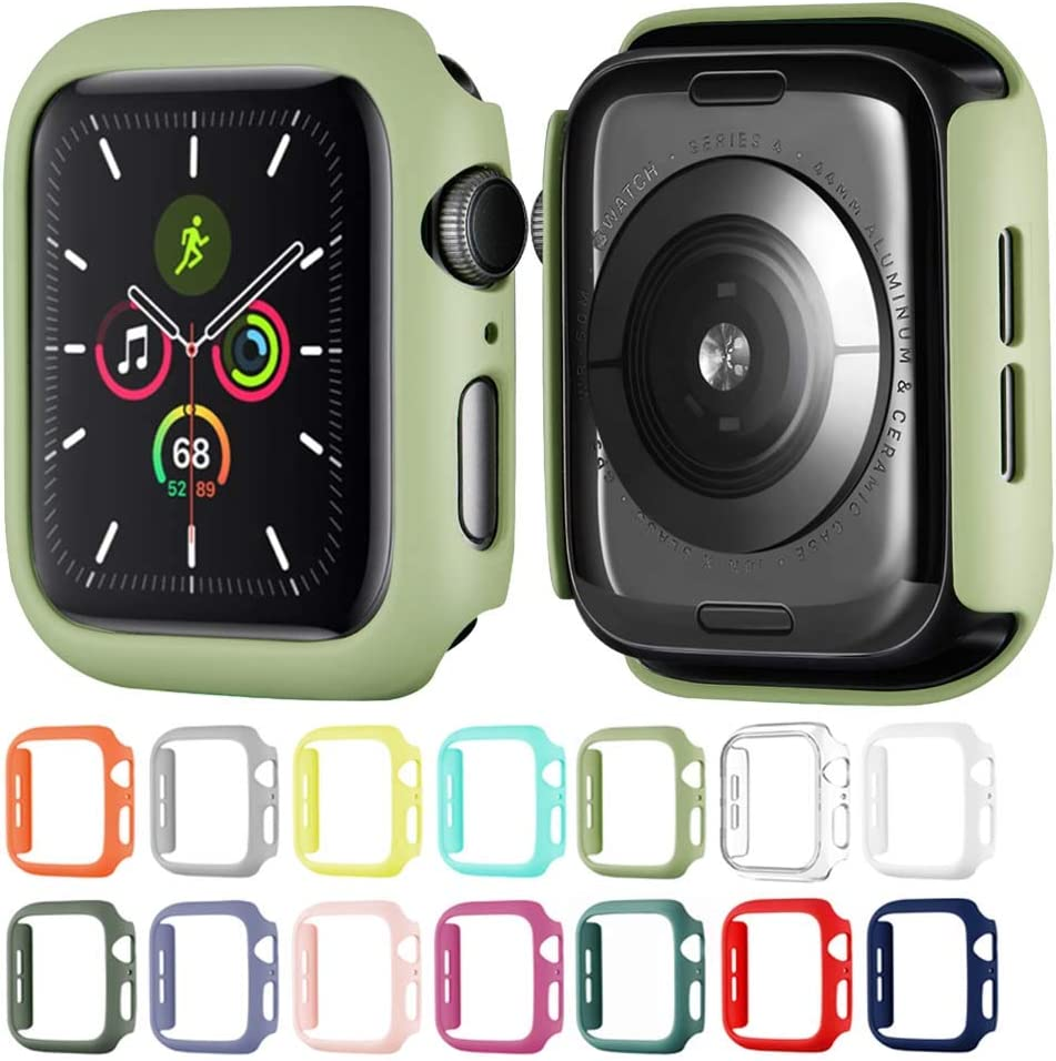 Winso Matte Hard PC Case Compatible with Apple Watch Series SE 6/5/4 Lightweight Thin Protective Bumper Cover for iWatch Mint Green 44mm