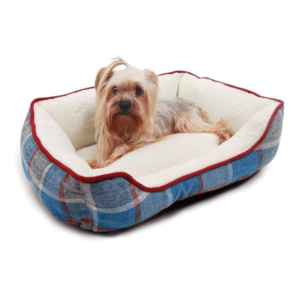 S(554518)CM FZKJJXJL Pet Tent Bed Kennel Cat Litter Pet Nest Small Medium Dog Large Four Seasons Universal Removable And Washable,S(55  45  18) CM