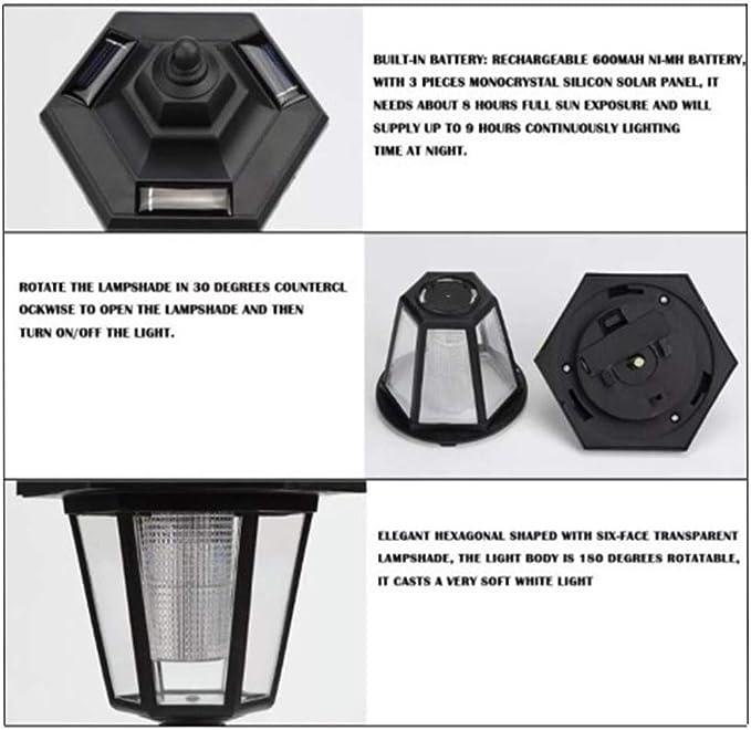 Amazon.com: RICH-Po - 2 lámparas solares LED para pared o ...