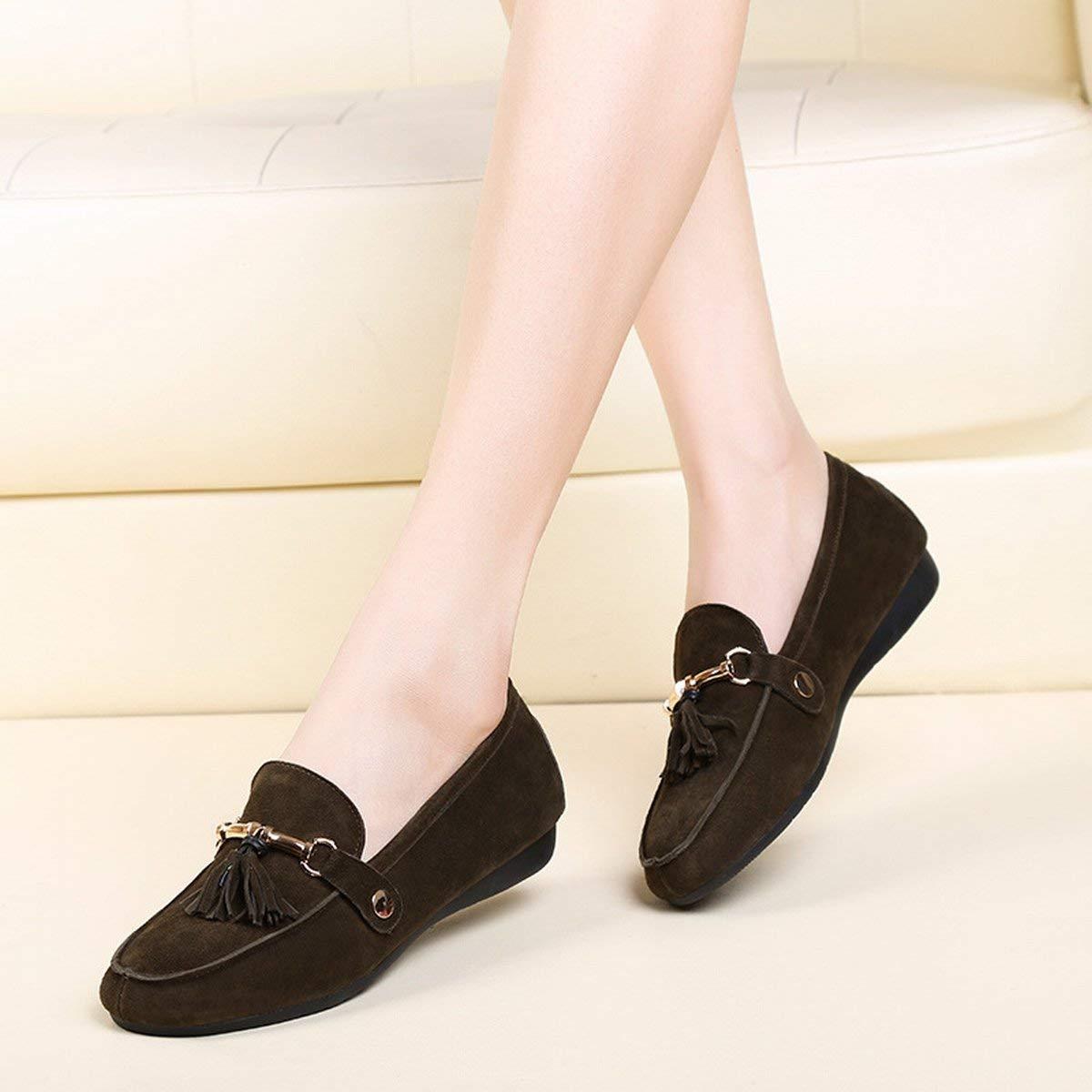Fuxitoggo Schuhe Wenig Tiefe Schuhe Schuhe Flach und komfortabel komfortabel komfortabel Peeling Schuhe Damen mit Schuhe Lockere (Farbe   Khaki Größe   35) f1f67d