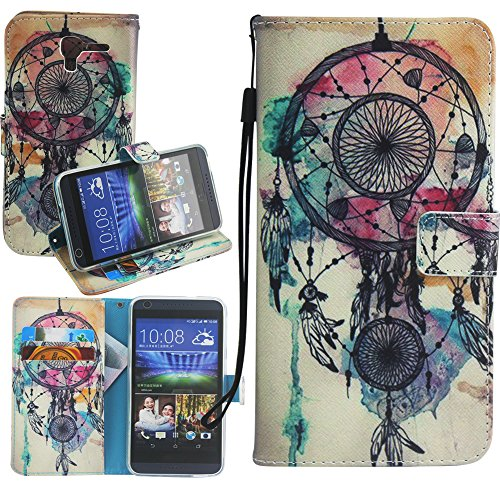 Kyocera Hydro Reach Case, Kyocera Hydro View Case, Harryshell(TM) Dream Catcher Wallet Folio Leather Flip Case Cover with Card Holder for Kyocera Hydro View C6742 / Kyocera Hydro Reach C6743 - Kyocera Wallet Phone Case