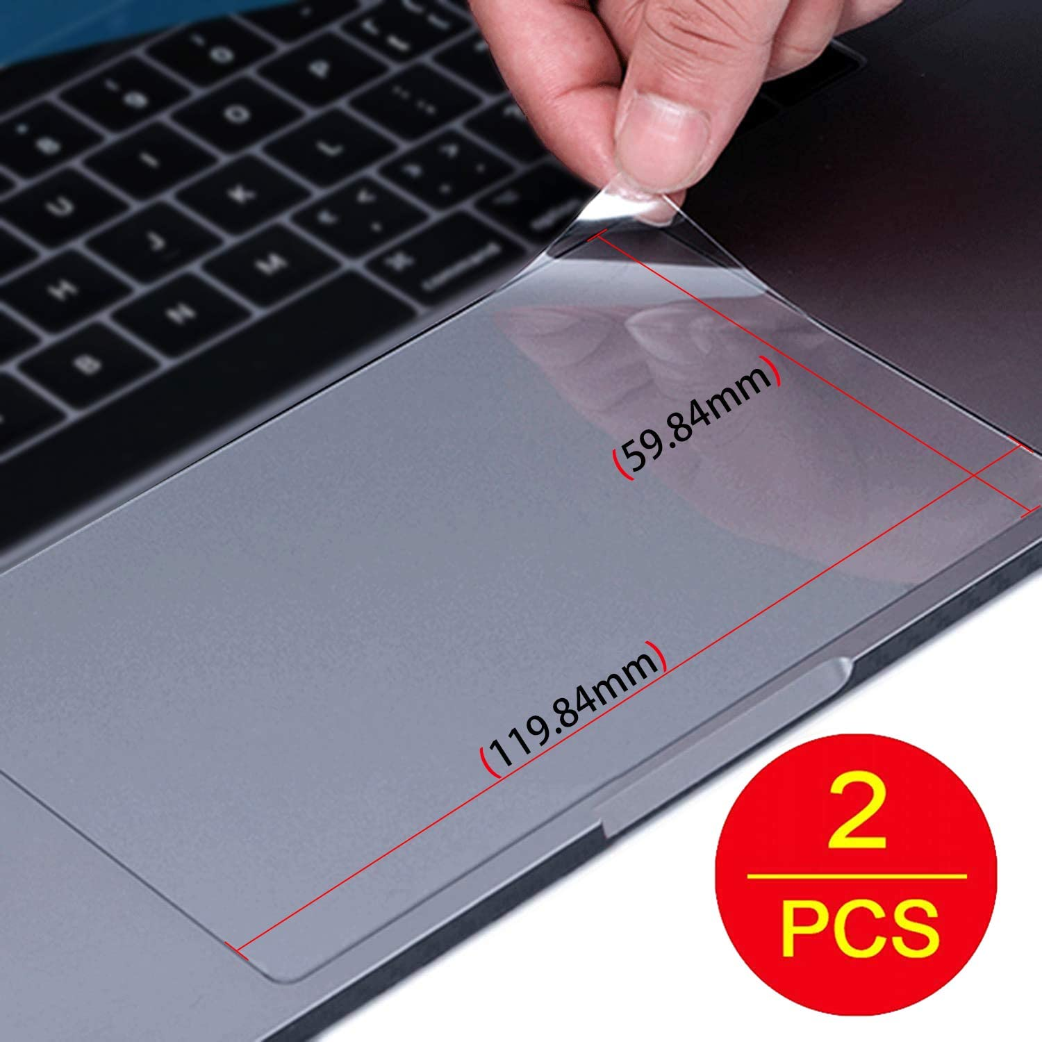 Lapogy [2PCS] Keyboard Trackpad Protector Cover for HP Envy x360/pavilion X360 15.6 inch Keyboard Accessories,Keyboard Protector, Clear