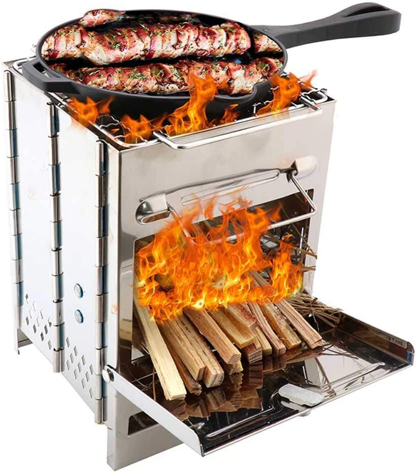 YF SURINA Mini barbecue pliant, barbecue en acier inoxydable