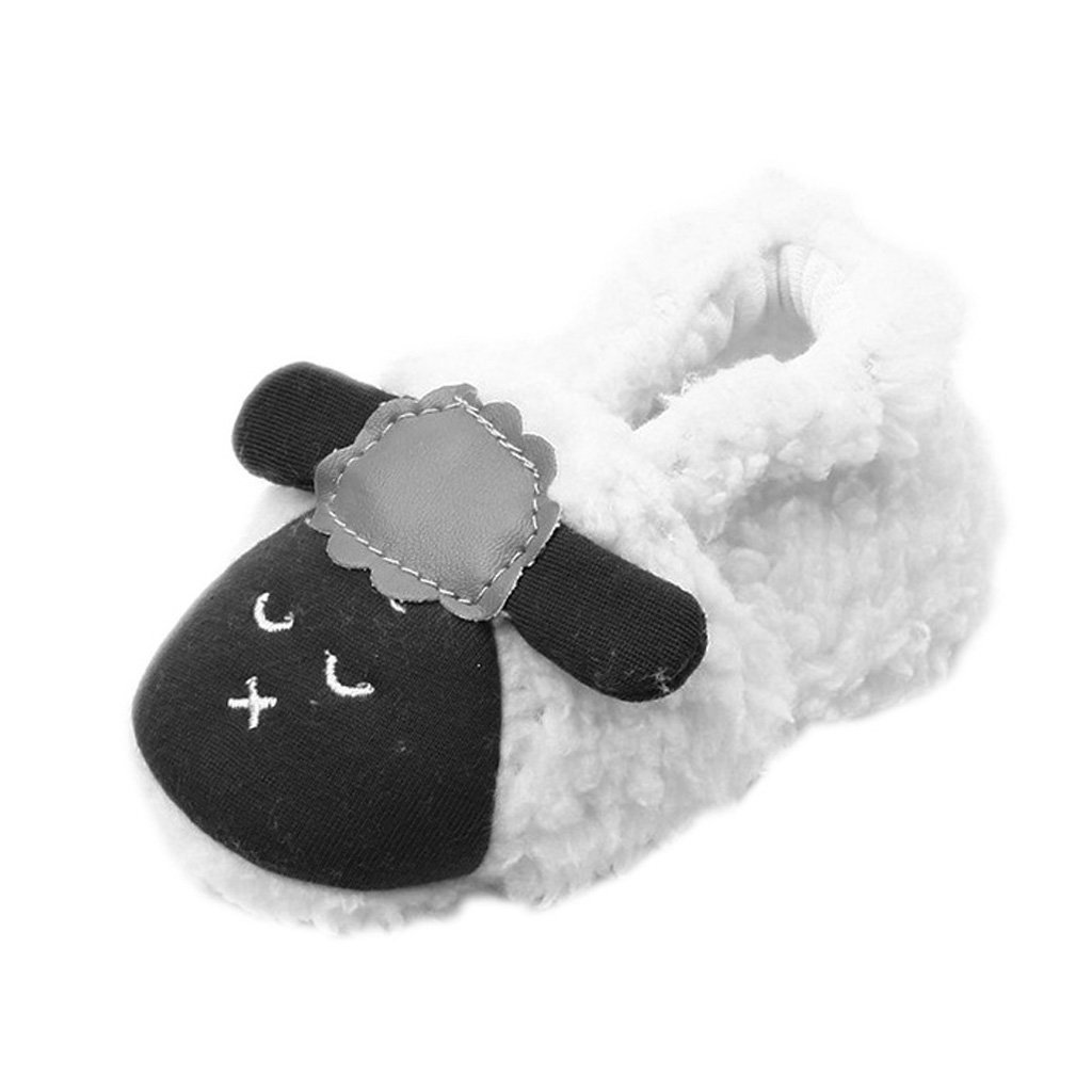 MagiDeal Coral Fleece BabyToddler Shoes Soft Sole with Sheep Pattern - White,a, 13-15cm STK0155004593