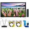 Samsung 32-Inch Full HD 1080p Smart LED HDTV (UN32J5205) with Durable HDTV and FM Antenna, 2x 6ft High Speed HDMI Cable Black & Universal Screen Cleaner for LED TVs Large Bottle
